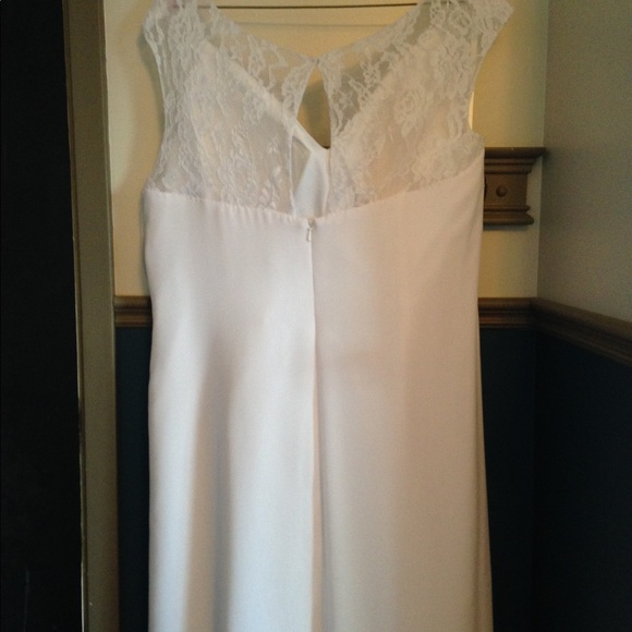 Chiffon wedding dress, length to fit 5'5